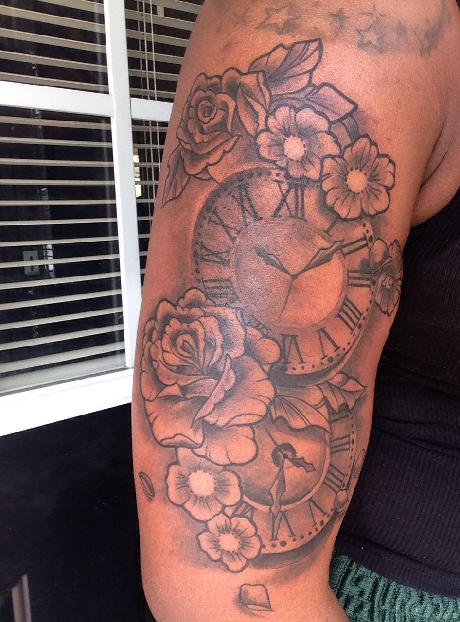 Tattoos Of Clock Showing Time Of My Children S Birth Ideas And Designs