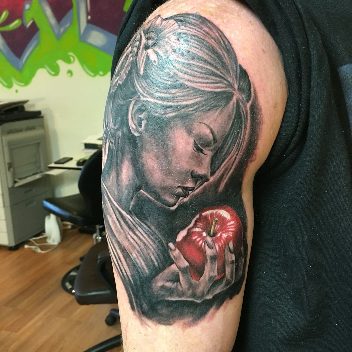 Adam And Eve Tattoo Black And Grey With Color Half Sleeve Ideas And Designs