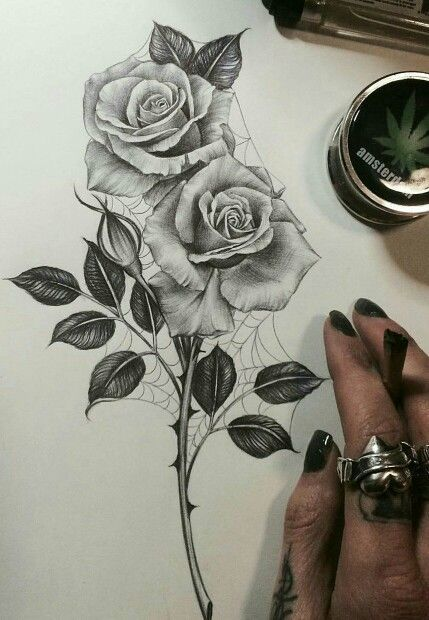 Rose Tattoo With An Edge Will Be Amazing With Roots Coming Ideas And Designs