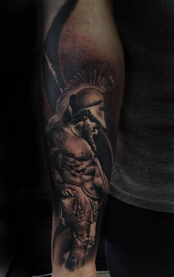 Achilles Tattoo By Lorand Limited Availability At Revival Ideas And Designs