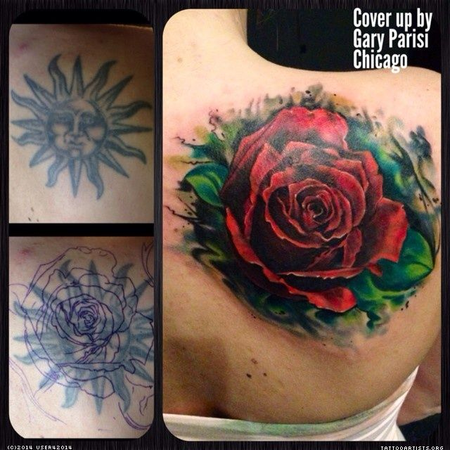 Big Red Rose Cover Up Tattoo Ideas Cover Up Tattoos Ideas And Designs