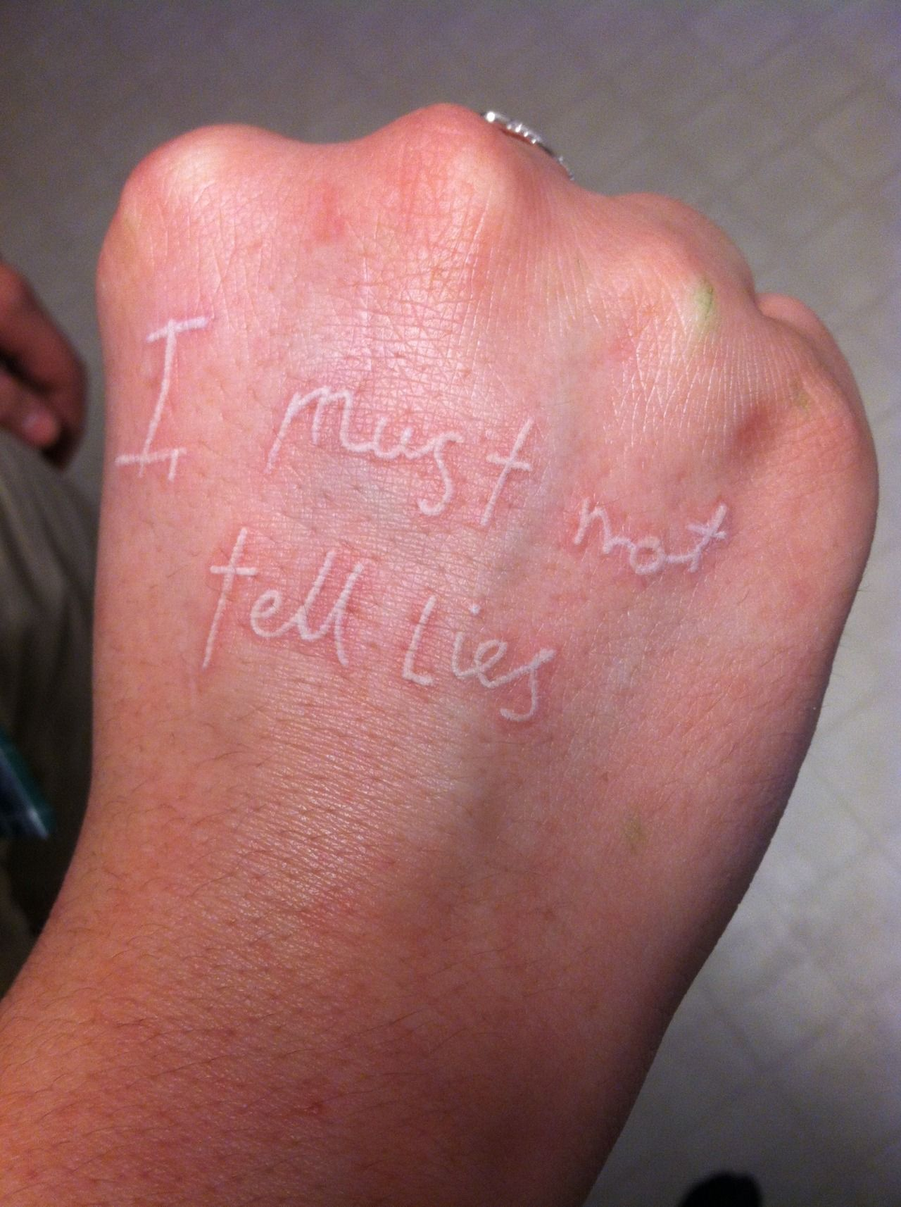 Harry Potter Tattoo On Hand I Must Not Tell Lies D Ideas And Designs