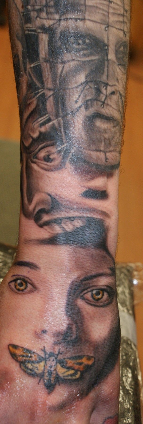 Silence Of The Lambs Portrait Best Portrait Tattoo Artist Ideas And Designs