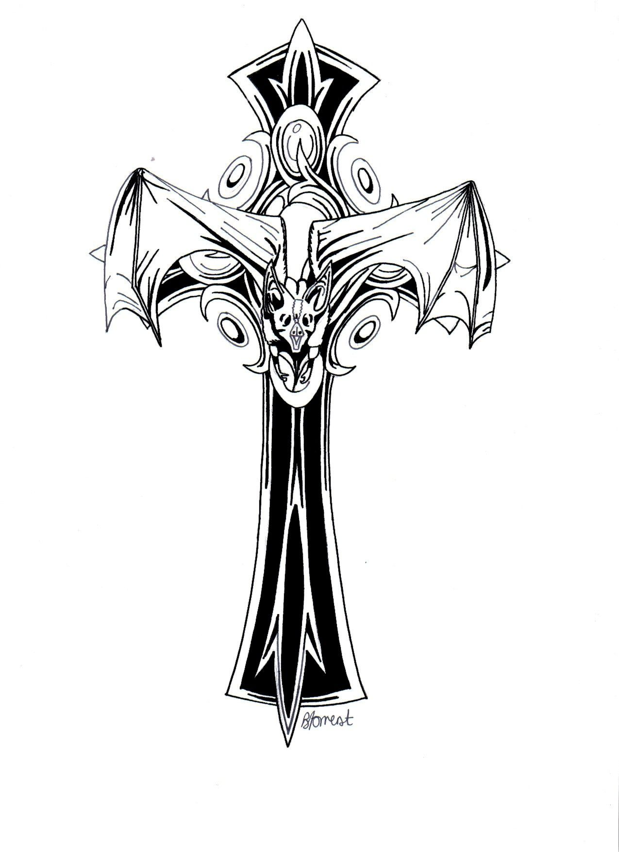 Gothic Cross By Bevf2003 On Deviantart Darquniss Ideas And Designs