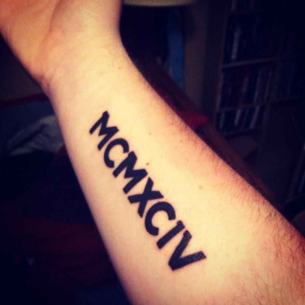 1994 Roman Numerals Tat Change To Smaller Font And Less Ideas And Designs