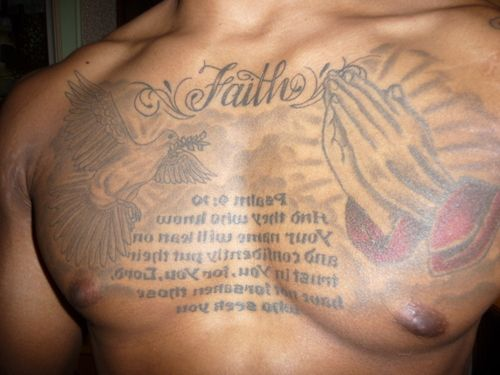 Psalm 27 Tattoos For Men Chest Complete Tattoo Ideas Ideas And Designs