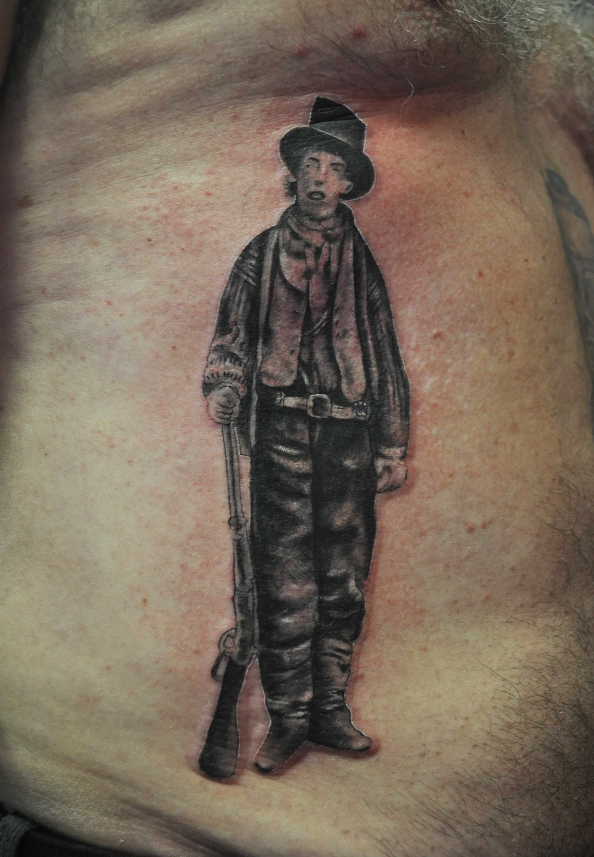 Billy The Kid Portrait Tattoo Artist Sid Lopes Tattoo For Ideas And Designs