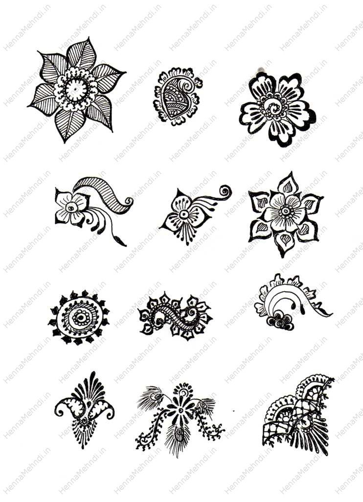 Simple Mehndi Designs For Beginners Printable Henna Ideas And Designs