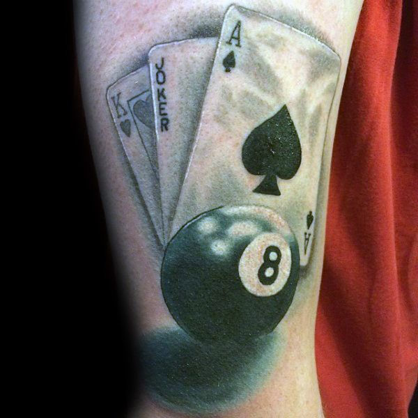 Top 40 Best 8 Ball Tattoo Designs For Men Billiards Ink Ideas And Designs