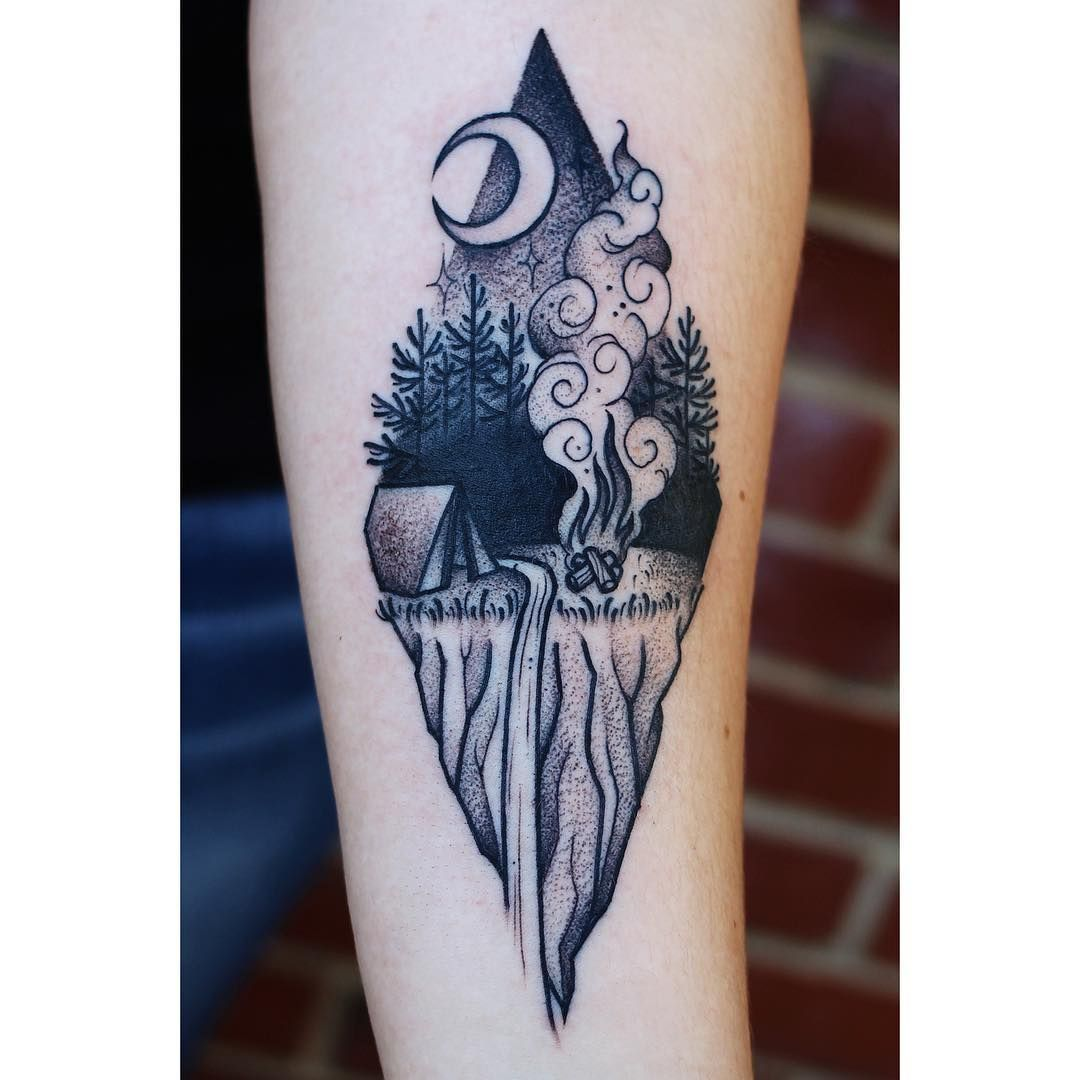 38 Tattoo Ideas For People Who Love To Camp Beautiful Ideas And Designs