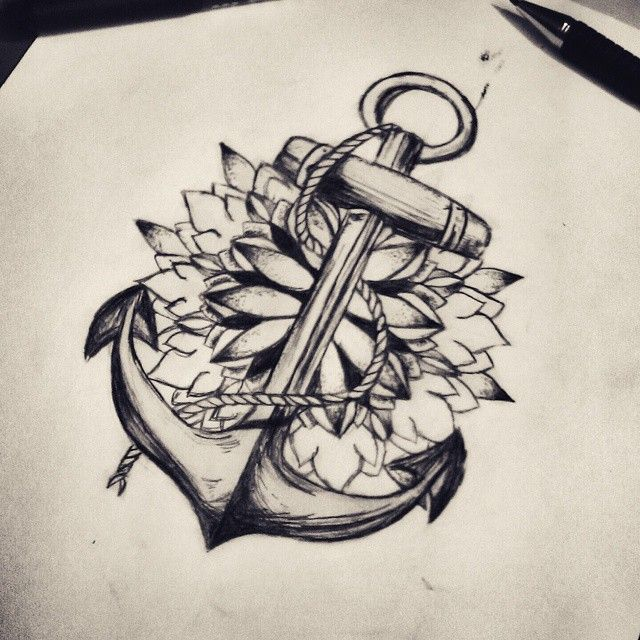 I Could Be Doing This To Add To My Anchor Tattoo Tattoos Ideas And Designs