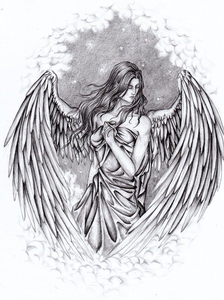 Pencil Drawings Of Guardian Angels Angel By Yazoolovrec Ideas And Designs