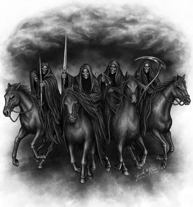 The Four Horsemen Of The Apocalypse Dark Art Horsemen Ideas And Designs