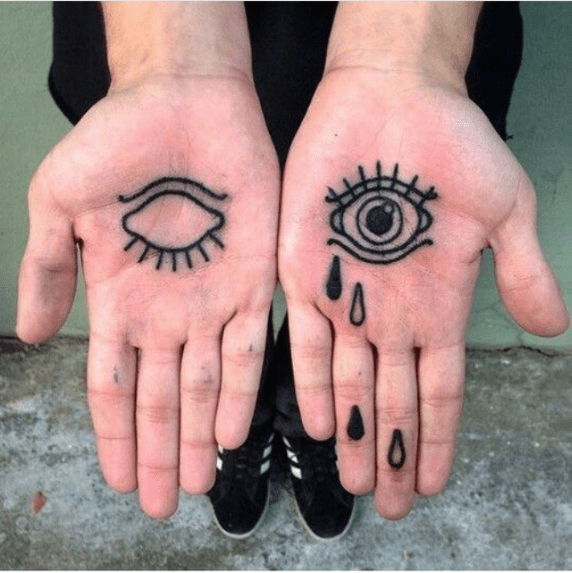 ⭐️Tweekandcraig Abstract Tattoo Tattoos Palm Tattoos Ideas And Designs
