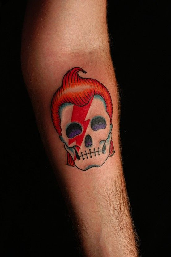 Ziggy Stardust Most Likely Getting This Tattoed Skull Ideas And Designs