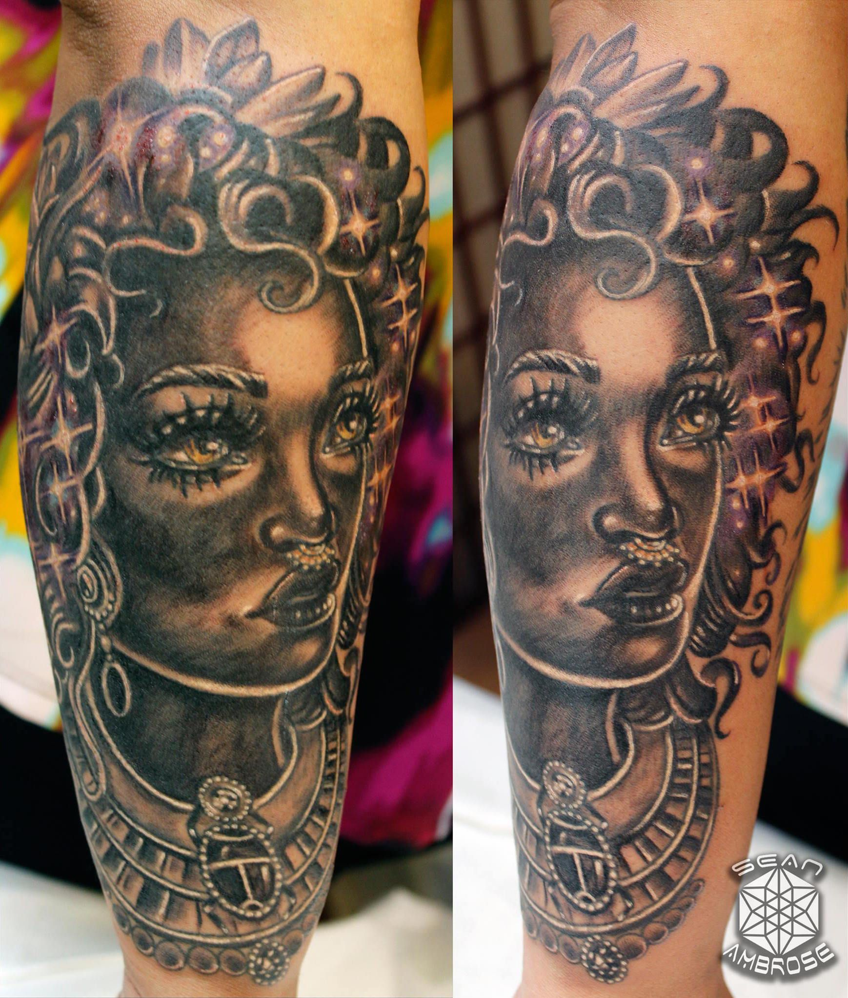African Space Goddess Tattoo Thanks Noha For Inquiries Ideas And Designs