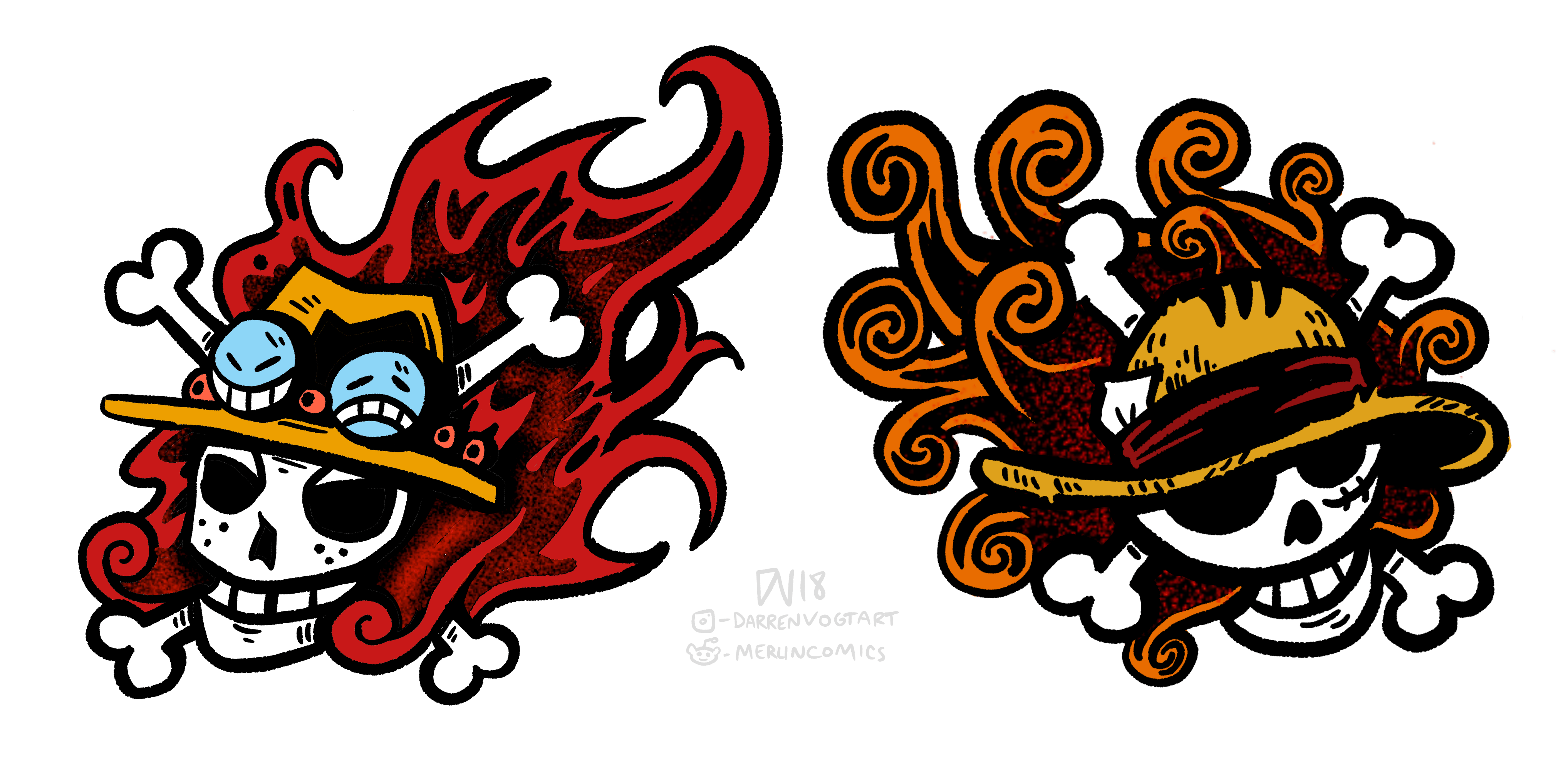 Luffy And Ace Tattoo Designs I Made Onepiece Ideas And Designs