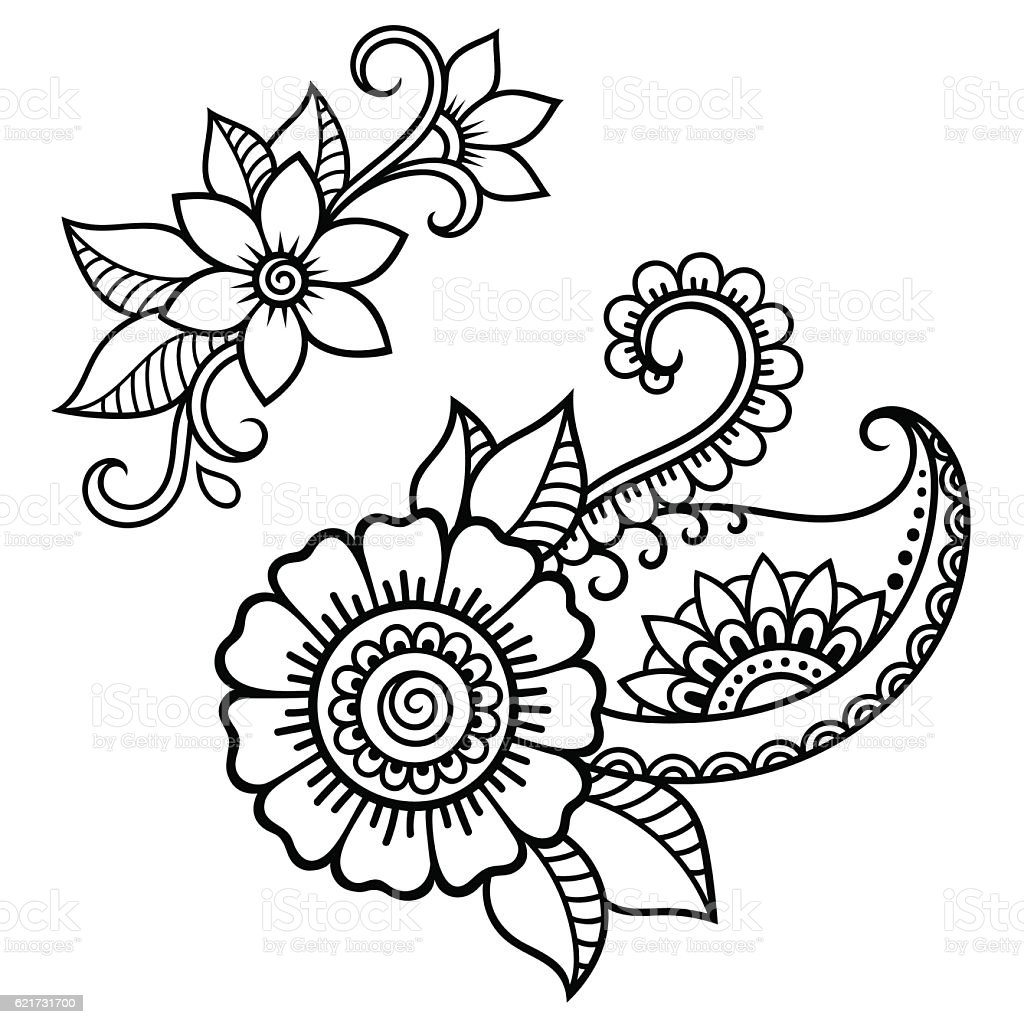 Henna Tattoo Flower Template Mehndi Style Stock Ideas And Designs