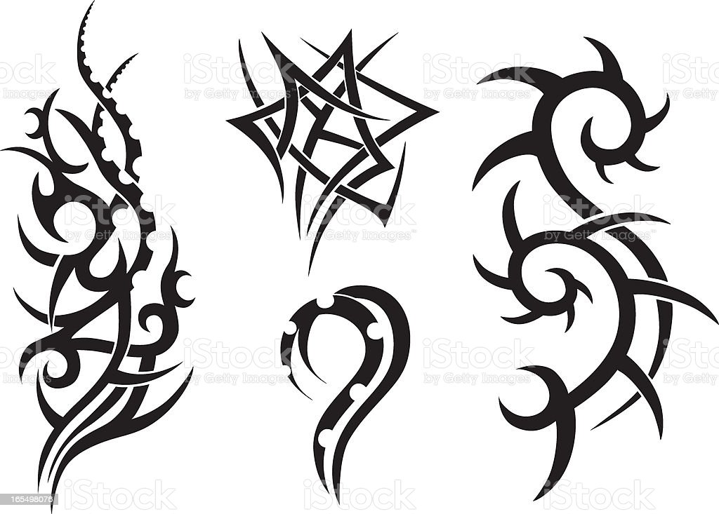 Tribal Tattoo Designs Stock Vector Art More Images Of Ideas And Designs
