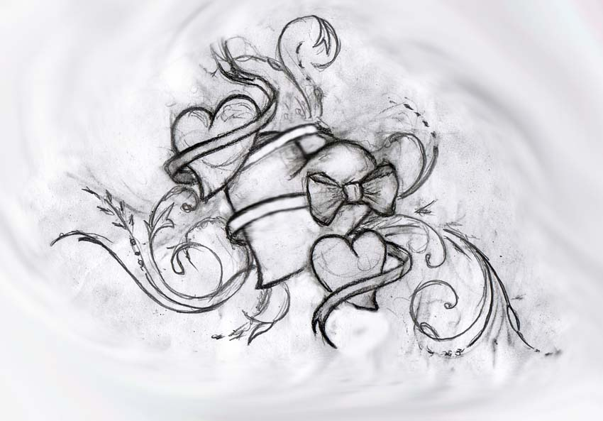 Three Hearts By Primitive Art On Deviantart Ideas And Designs