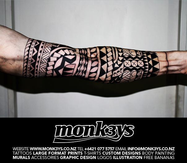 3 4 Sleeve 3 By Monk3Ys Tattoos On Deviantart Ideas And Designs