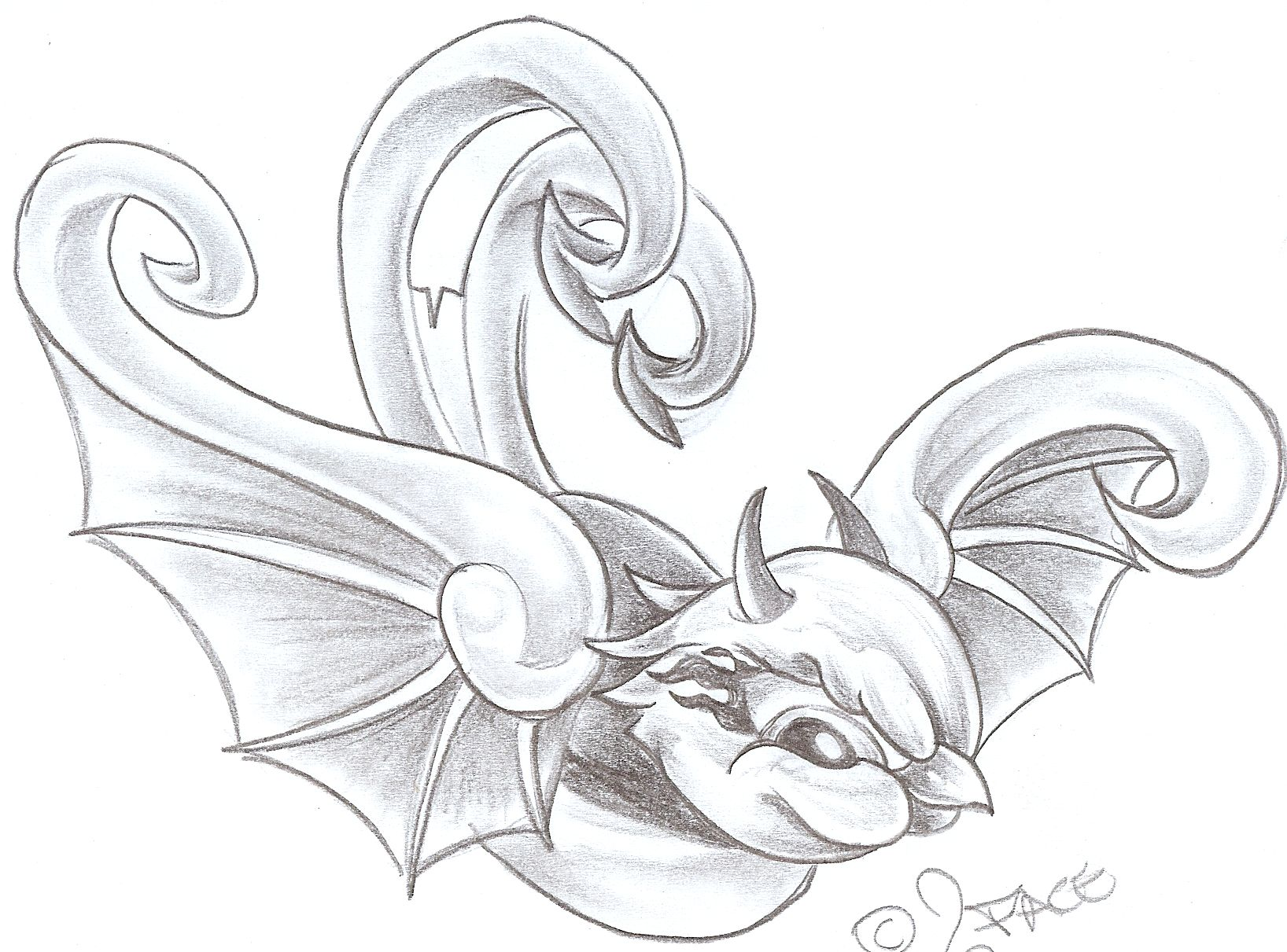 Swallow Evil Tattoo Design By 2Face Tattoo On Deviantart Ideas And Designs