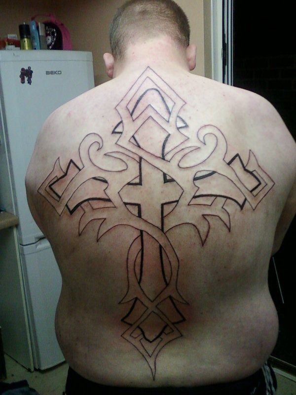 Full Back Cross Tattoo By Mwilliams88 On Deviantart Ideas And Designs