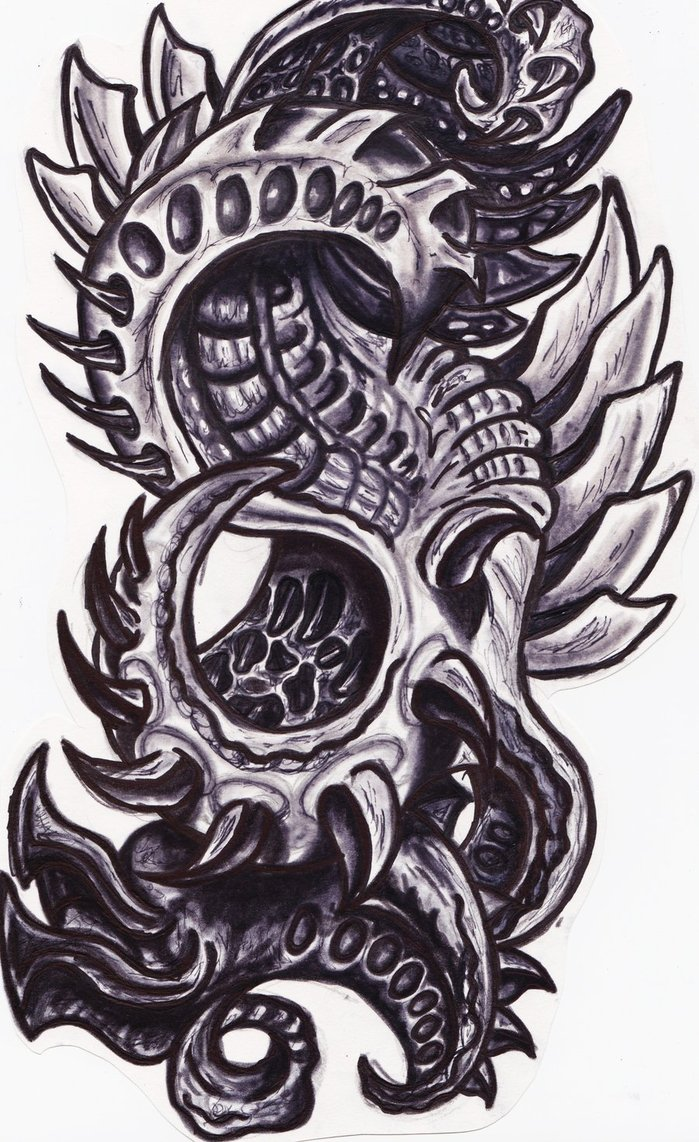 Biomechanical Drawings At Paintingvalley Com Explore Ideas And Designs