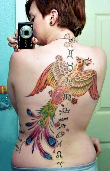 Phoenix Zodiac Signs Tattoo By Cody Holyoak Aces Over Ideas And Designs
