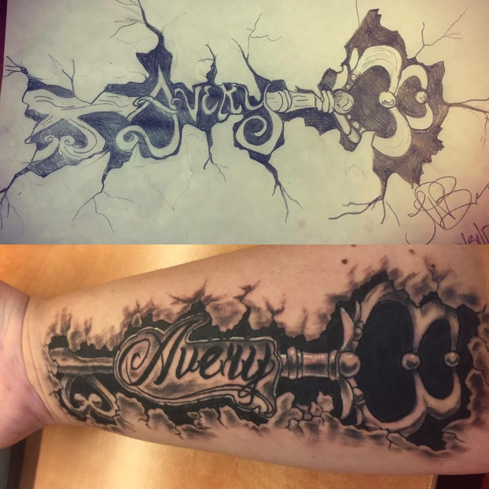 My Drawing Was Up Top Below Is The Tattoo That Ben Came Ideas And Designs