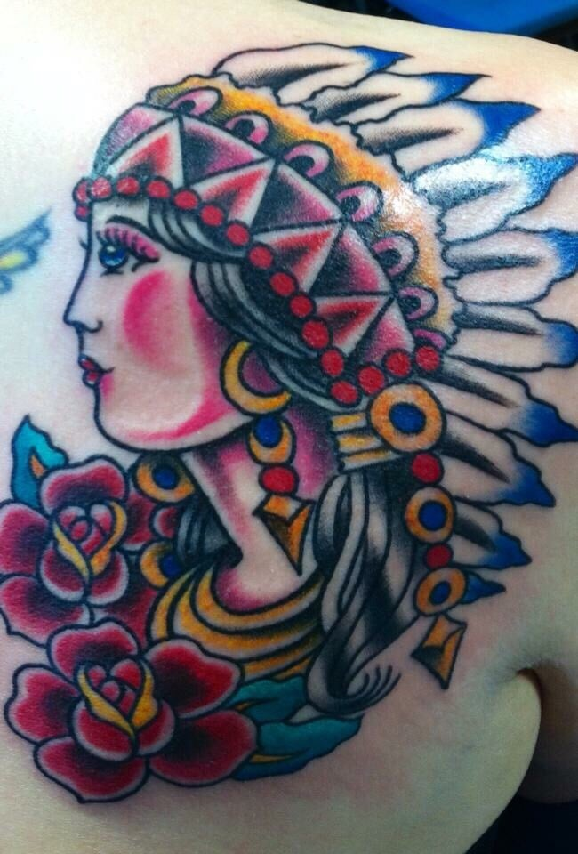Reed Did My Indian Lady For My Birthday In December I M Ideas And Designs
