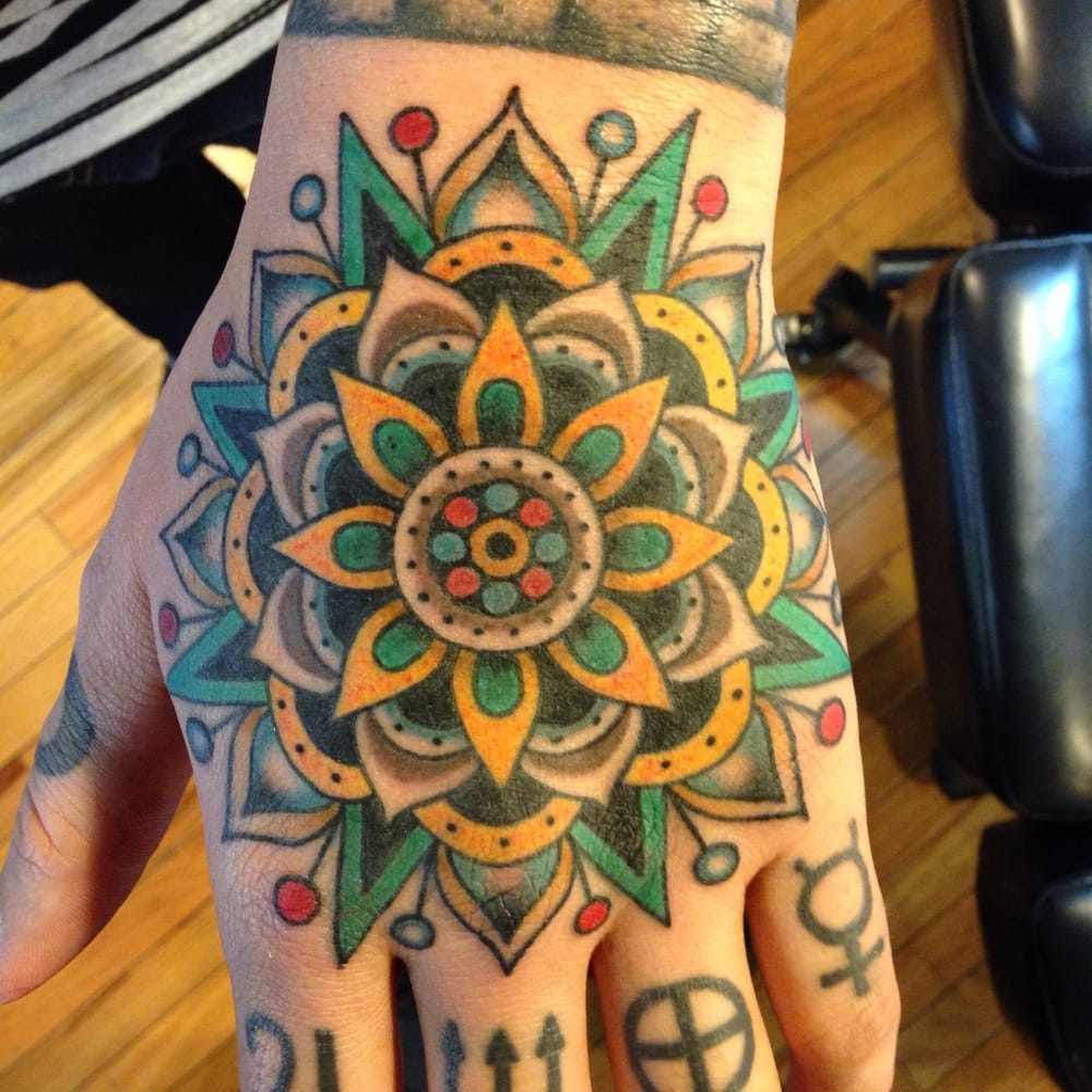 Mandala On My Hand Done By Evan October 2013 Yelp Ideas And Designs