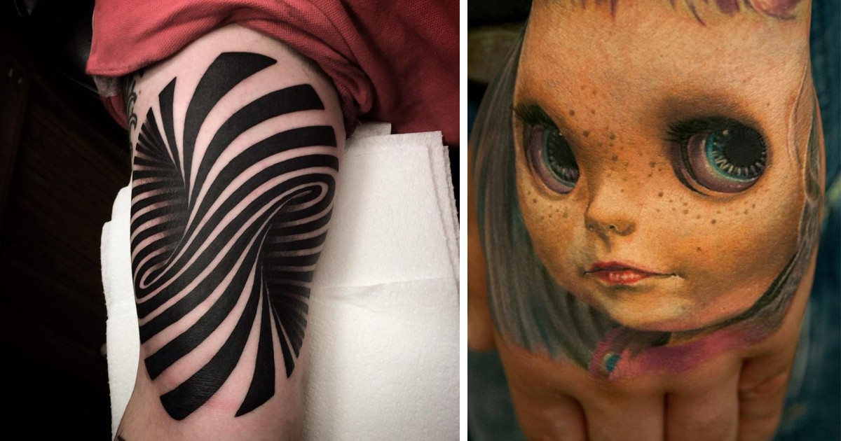 70 Crazy 3D Tattoos That Will Twist Your Mind Bored Panda Ideas And Designs