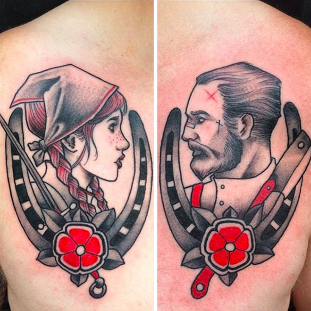 87 Matching Couple Tattoos For L*V*Rs That Will Grow Old Ideas And Designs