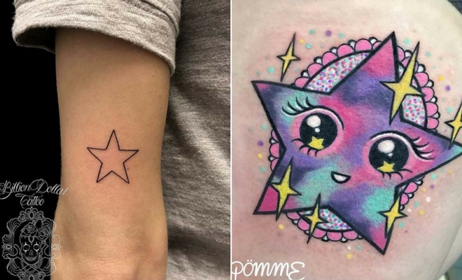 41 Amazing Star Tattoos And Ideas For Women Stayglam Ideas And Designs