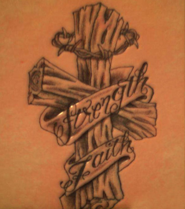 Asian Tatto Style 3D Cross Tattoo Ideas And Designs