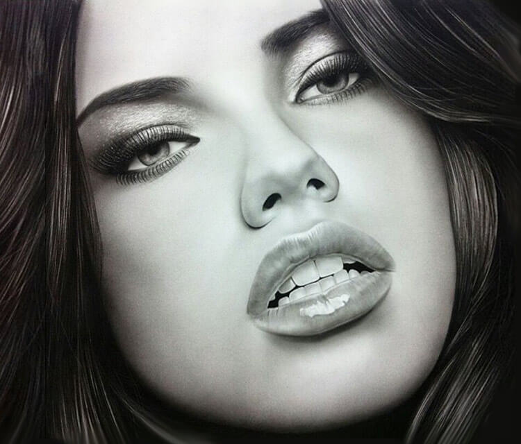 Portrait Drawing Of Adriana Lima By Ayman Arts No 200 Ideas And Designs