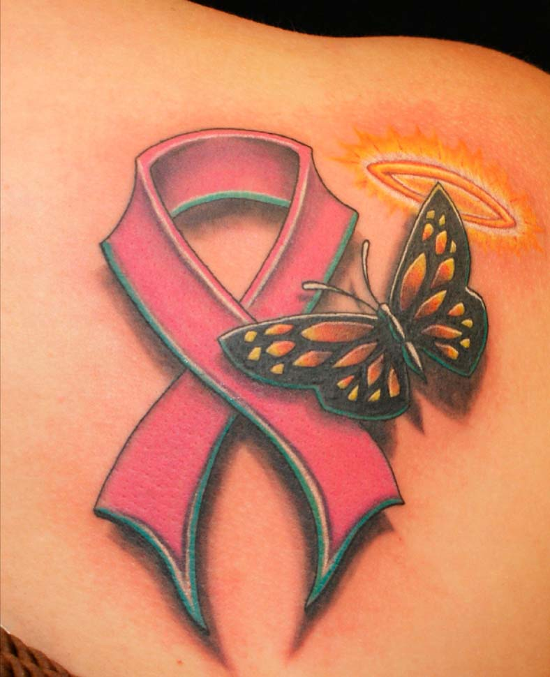 24 Uplifting Br**St Cancer Tattoos For Survivors And Ideas And Designs