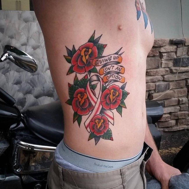 130 Inspiring Br**St Cancer Ribbon Tattoos July 2018 Ideas And Designs