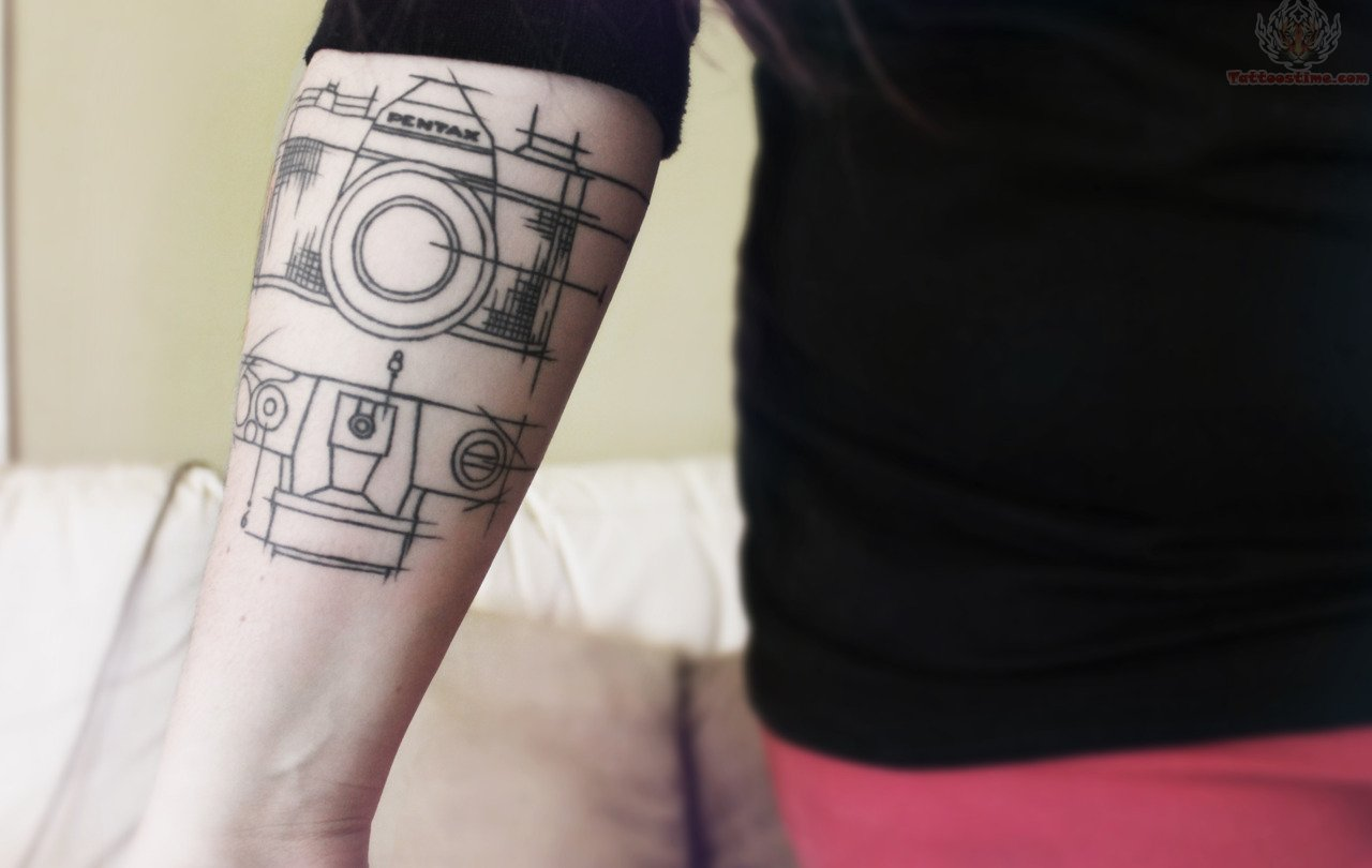 Camera Diagram Tattoo On Arm – Site Title Ideas And Designs