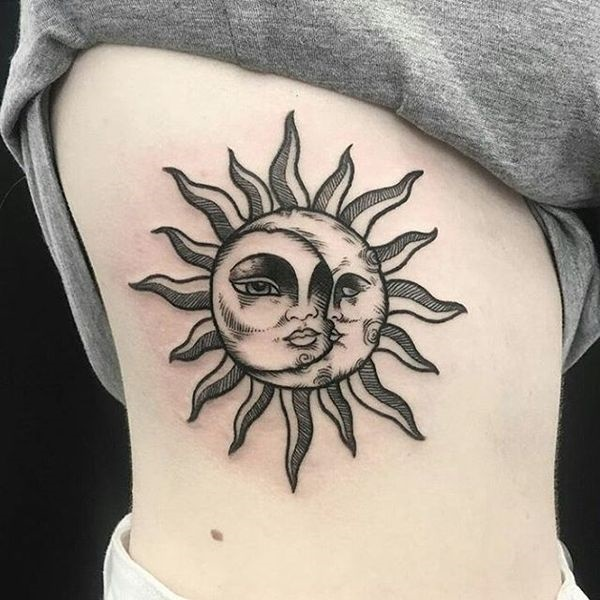 50 Wonderful Sun And Moon Tattoo Designs You Will Love Ideas And Designs