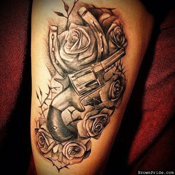 Gun And Roses Tattoo By Big Gus Photo Gallery Ideas And Designs