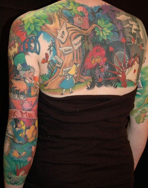 Disney Inspired Alice In Wonderland Tattoo The Worley Gig Ideas And Designs