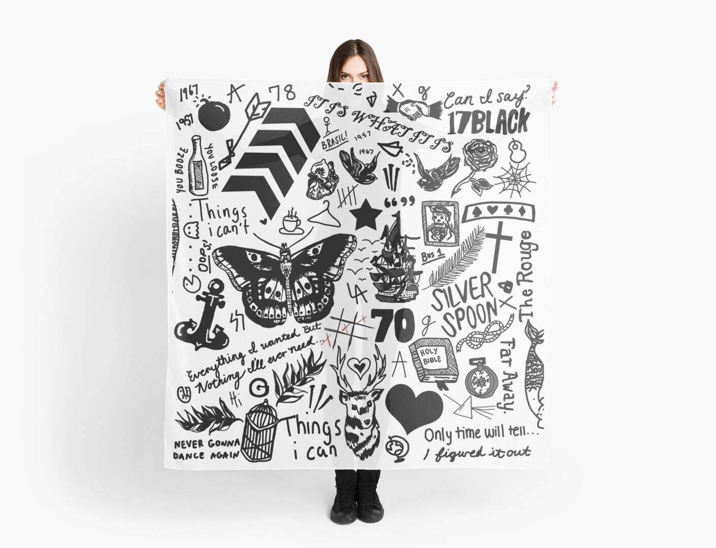 1D Tattoos Updated 2015 Scarves By Eliannadraws Ideas And Designs