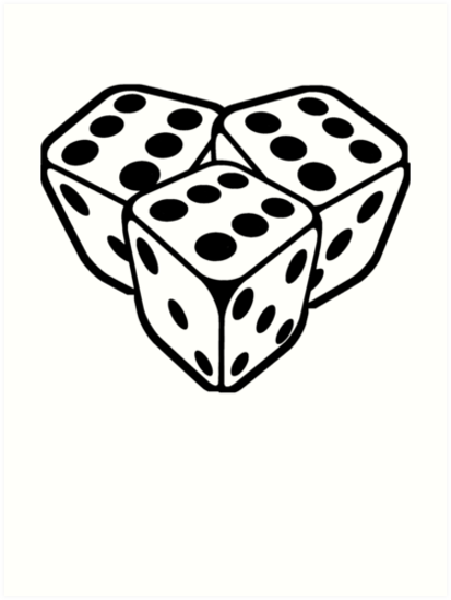 666 Dice Art Prints By 13666 Redbubble Ideas And Designs