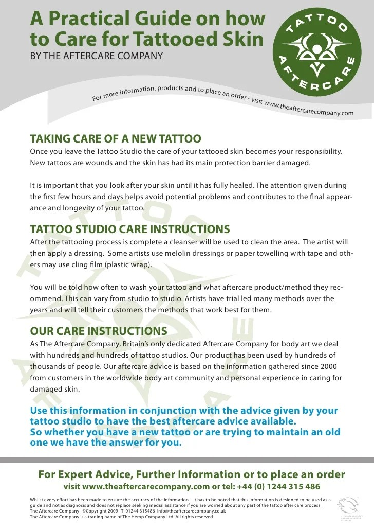 Tattoo Aftercare Care Guide Ideas And Designs