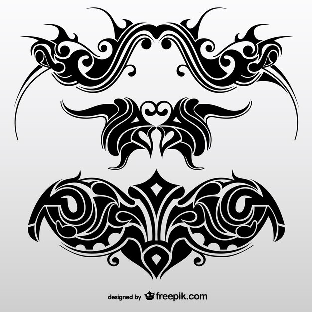 Collection Of Abstract Tribal Tattoos Vector Free Download Ideas And Designs