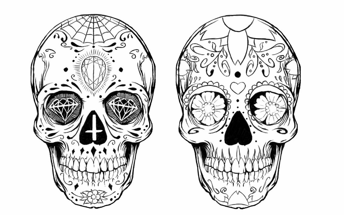 Sugar Skull Tattoo Design By Alxpalm On Deviantart Ideas And Designs