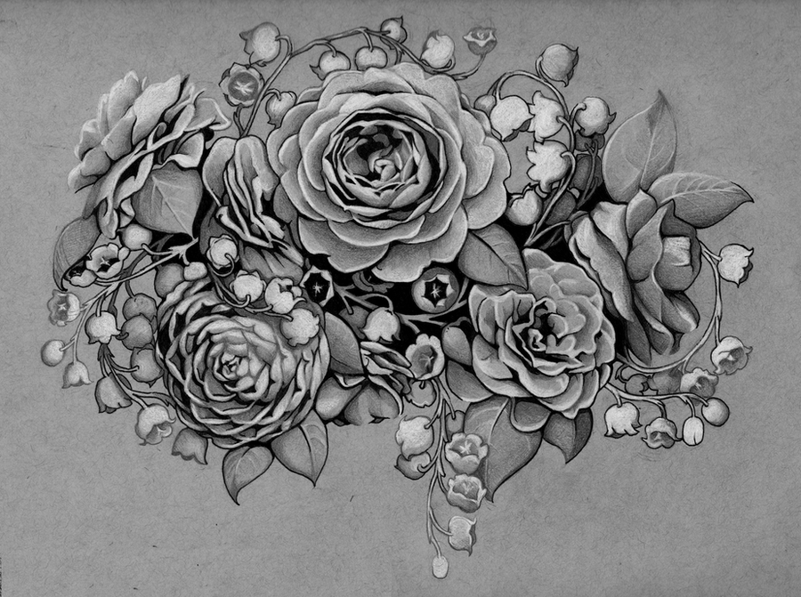 Tattoo Design Camellias And Lilies Of The Valley By Ideas And Designs