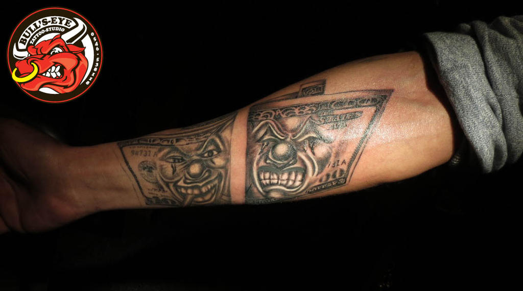 100 Dollar Bill Smile Now Cry Later Tattoo By Ideas And Designs